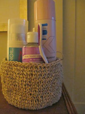 Moss Crochet Basket