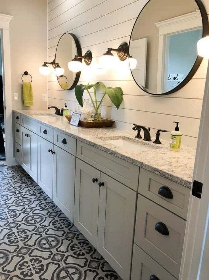 ✔35 gorgeous farmhouse master bathroom decorating ideas 6