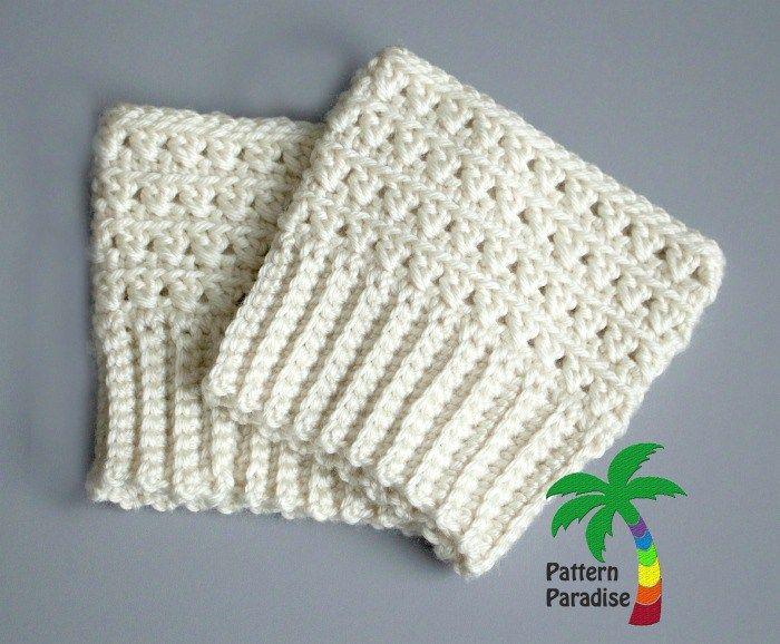 Mejores 33 imágenes de crochet boots cuffs en Pinterest | Botas ...