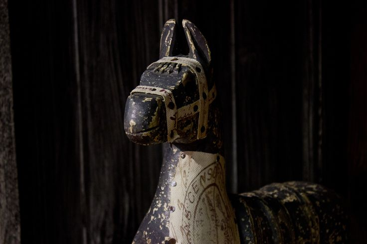 Old wooden horse