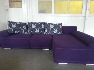 Yorker Corner Sofa Bed made of PURPLE Stain Resistant Fabric Rochdale