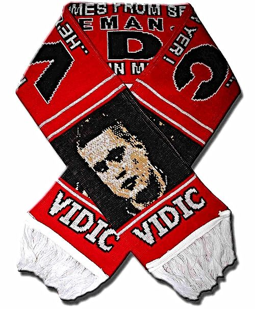 Vidic Red Knitted Scarf