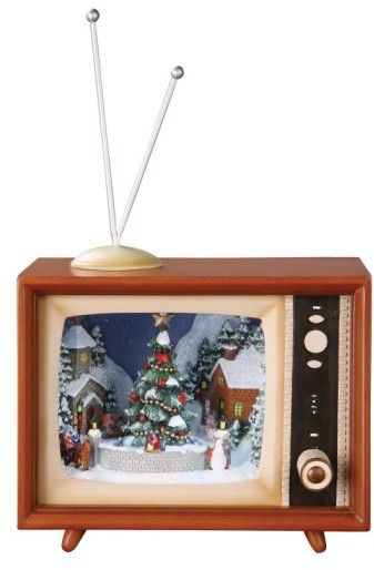 $119.99 - Roman 'Sledders' Led Musical Tv Decoration - A retro-inspired TV set serves as a perfect display for a nostalgic wintertime diorama featuring light-up windows, classic tunes and rotating pieces that bring the scene to life. Brand: Roman. Style Name:Roman 'Sledders' Led Musical Tv Decoration. Style Number: 5190536. Available in stores. 4 94 lbs Requires AAA batteries (not included) Plastic/resin/wire