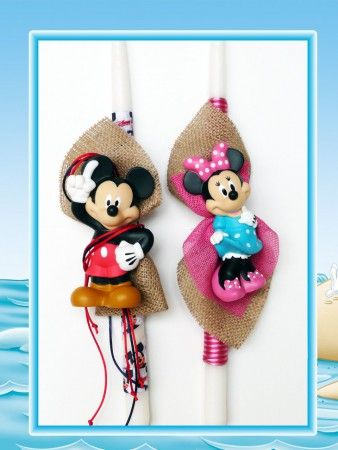 Λαμπάδες Mickey-Minnie  Comic Stars