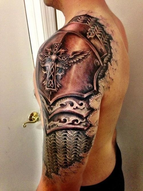20 Amazing Armor Tattoos for Men (2)
