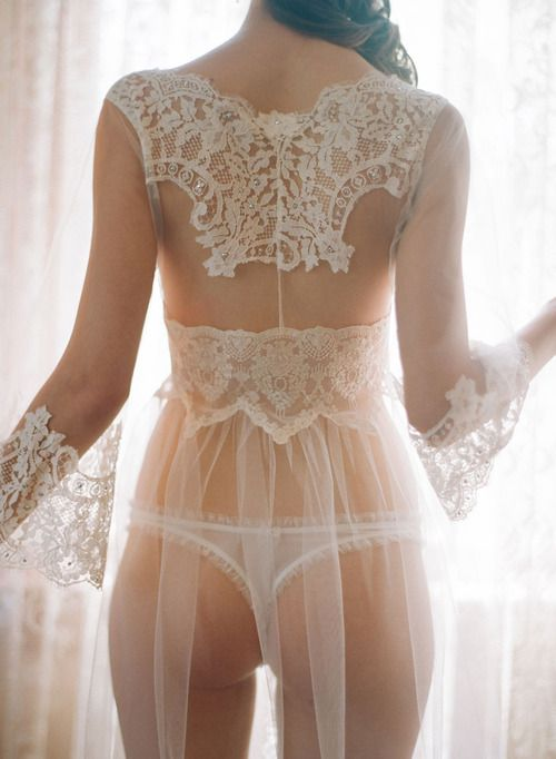 wedding night lingerie. Very different.. Cute pic for the hubby