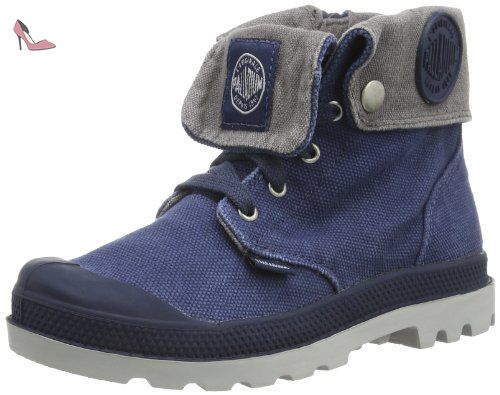 Palladium Baggy Zipper, Desert boots mixte enfant, Bleu (Y/Metal), 29 - Chaussures palladium (*Partner-Link)