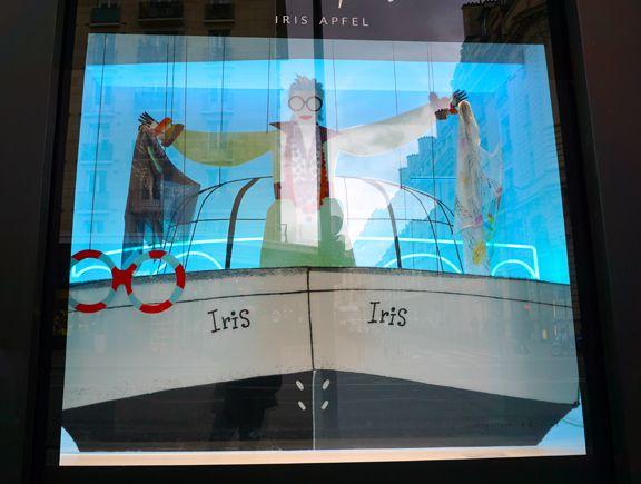 Iris Apfel at Le Bon Marche