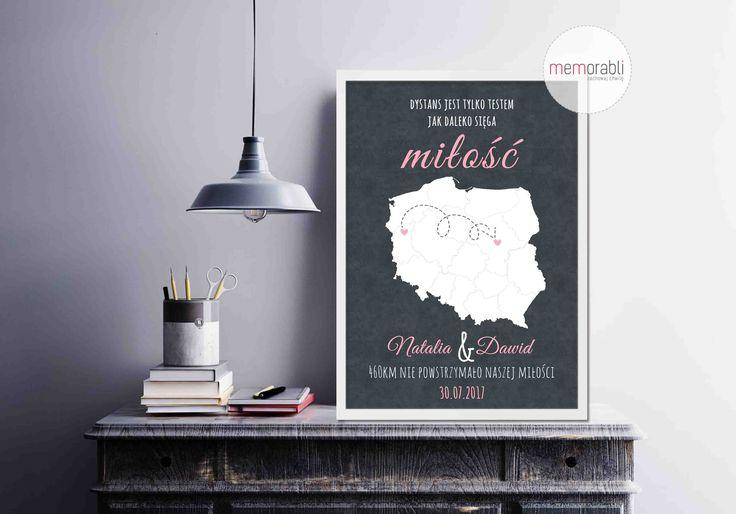 Plakat dla pary młodej   #walentynki #love #ślub #wedding #rocznica #valentinesday #anniversary #memorabli #handmade #plakaty #poster #nasciane #dekoracjapokoju #maż #żona #certyfikat #mapa