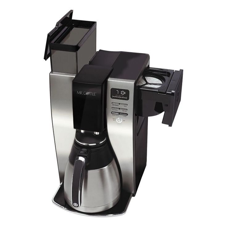 Mr. Coffee Optimal Brew 10 Cup Thermal Programmable Coffeemaker - Black/Brushed Silver - 53666D87CAA84B4B93A8288A0A9F3E9B