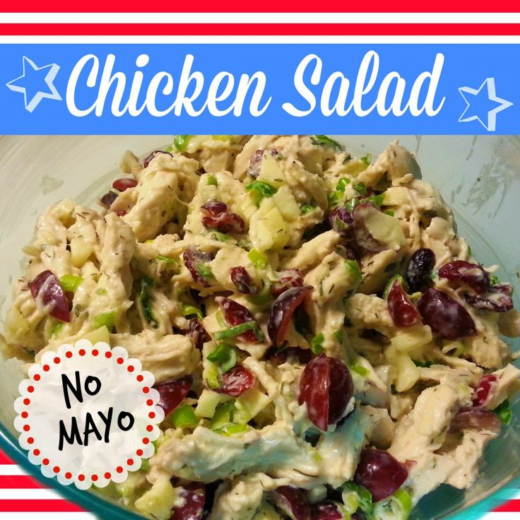 Healthy Chicken Salad Recipe Without Mayo To Make A Big