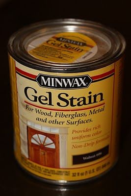 Minwax Gel Stain: No need to sand, available in 10 colors, seal with a top coat such as polyurethane.