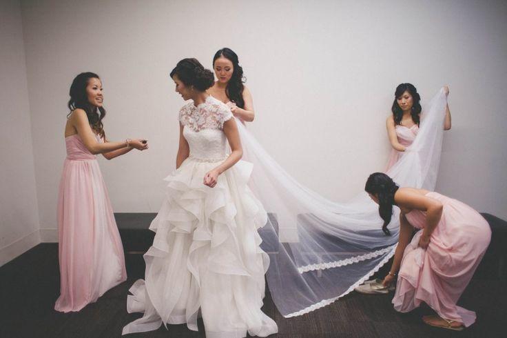 Anita   Ben: Lavish Edmonton Wedding. Getting Ready, Bridesmaids, Pink Wedding