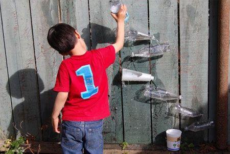 kids can make their own waterwall