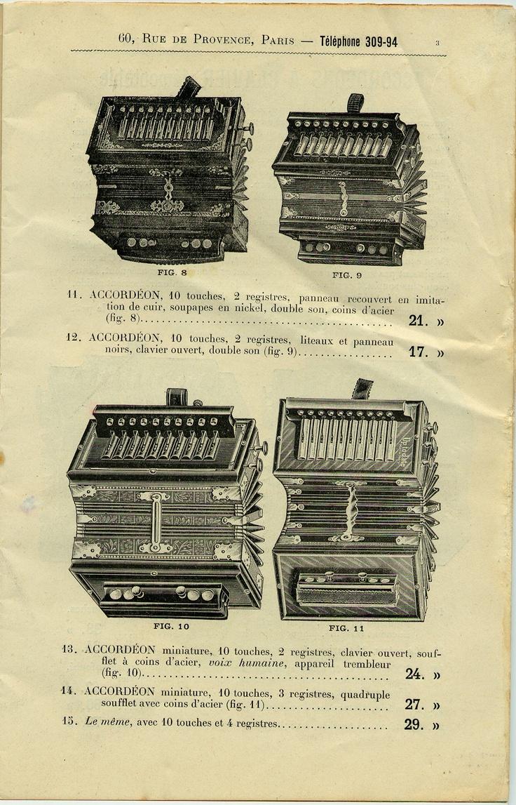 Typologie des instruments à vent catalogue d'accordéons 1/4