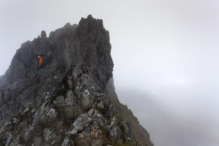 Philip Oldham @MrPhilipOldham  ·  Nov 23 Snowdon via Crib Goch today. It's a long way down.. on both sides.. #wales #slowlyslowly