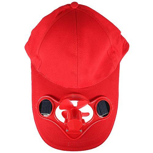 ELOS-Sun Solar Power Hat Cap dengan Cooling Fan Outdoor Golf Baseball Sun Topi Kipas surya