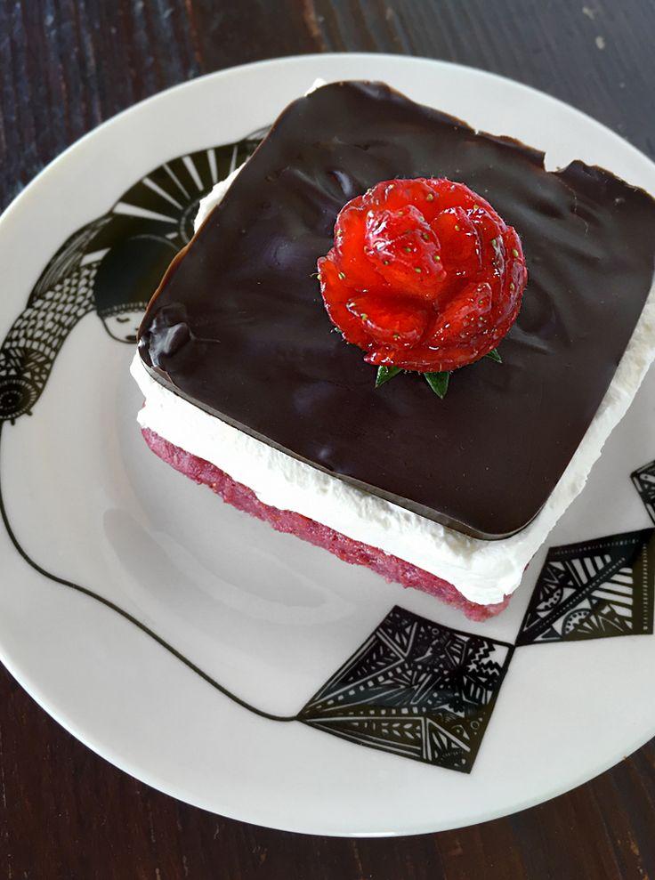 "mattonella alle fragole * Vegan Strawberry ""shortcake"