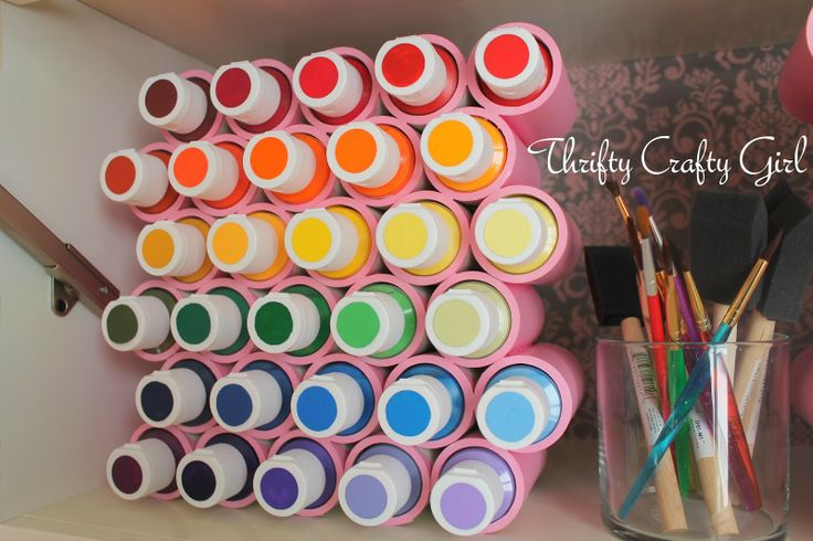 Acrylic Paint Storage - Thrifty Crafty Girl