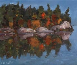 Helmut Gransow Lakeview and Landscape Dimensions:  10 X 12 in (25.4 X 30.48 cm) Medium:  oil on canvas Signed