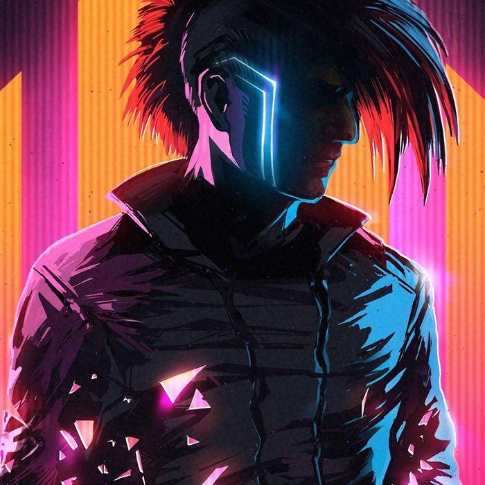 Outrun Mohawk Wallpaper Engine Cyberpunk Cyberpunk Character Art Male Cyberpunk Character Art Dope wallpapers on wallpaper engine