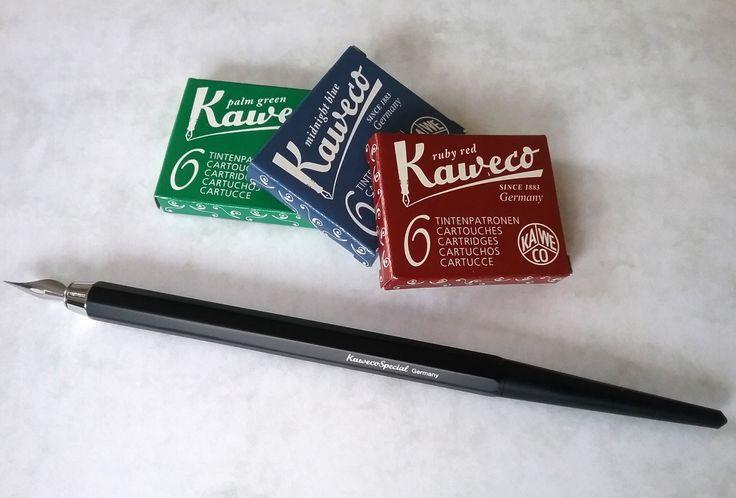 Kaweco Dip Pen + Ink Cartridges Kaweco Federhalter für Kalligraphie mit austauschbarer Schreibfeder + Kaweco Tintenpatronen