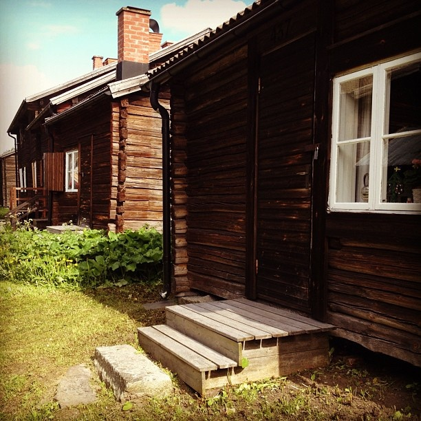 """""""Bonnstan"""" in Skellefteå Sweden. One of the best-preserved old church towns."""