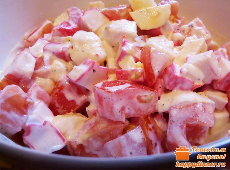 Салат из крабовых палочек с помидорами - Готовим вкусно!