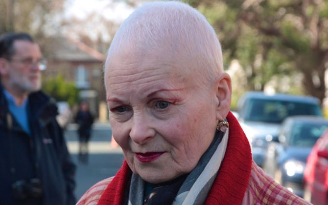 """Vivienne cut her hair as we must all wake up to Climate Change,"" said a spokesperson for her label.  ""And secondly she wanted to cut the red out for a while and have it white- to show she's proud of her age."""