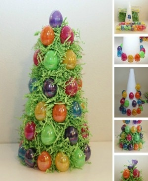 Trees crafts and easter egg tree on pinterest How to make an easter egg tree