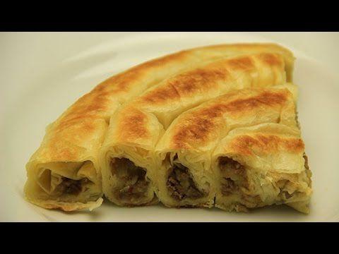 Tavada Rulo Börek Tarifi - Kıymalı Patatesli Çıtır Kol Böreği
