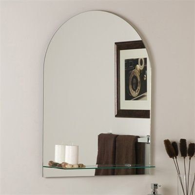 Shop Decor Wonderland Roland Frameless Wall Mirror With Shelf At Lowes Canada Find Our Selection Of Bathroom Mirrors The Lowest Price Guaranteed