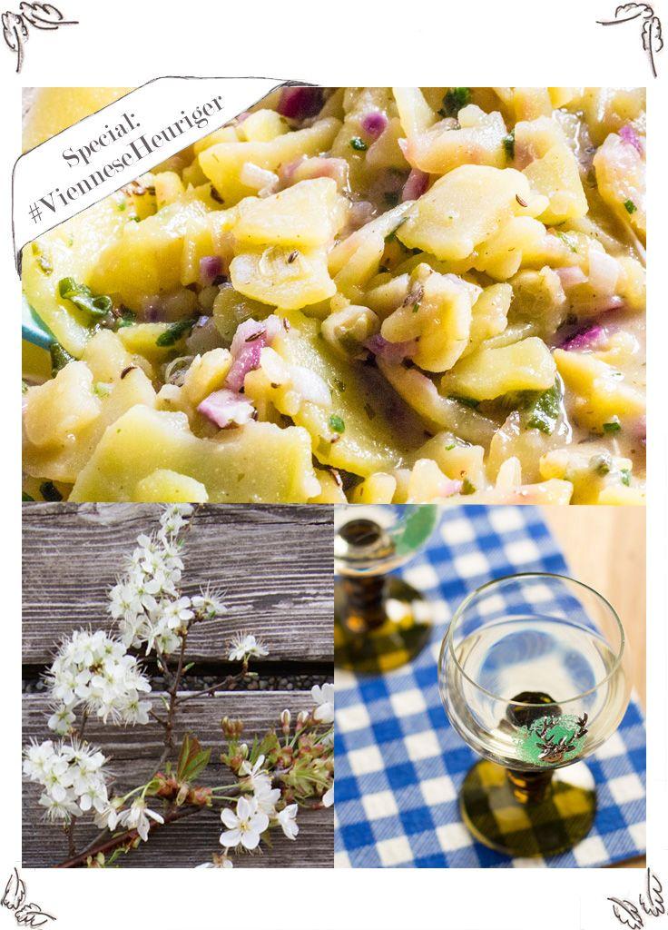 Rezept für Wiener Erdäpfelsalat, wie man ihn beim Heurigen bekommt