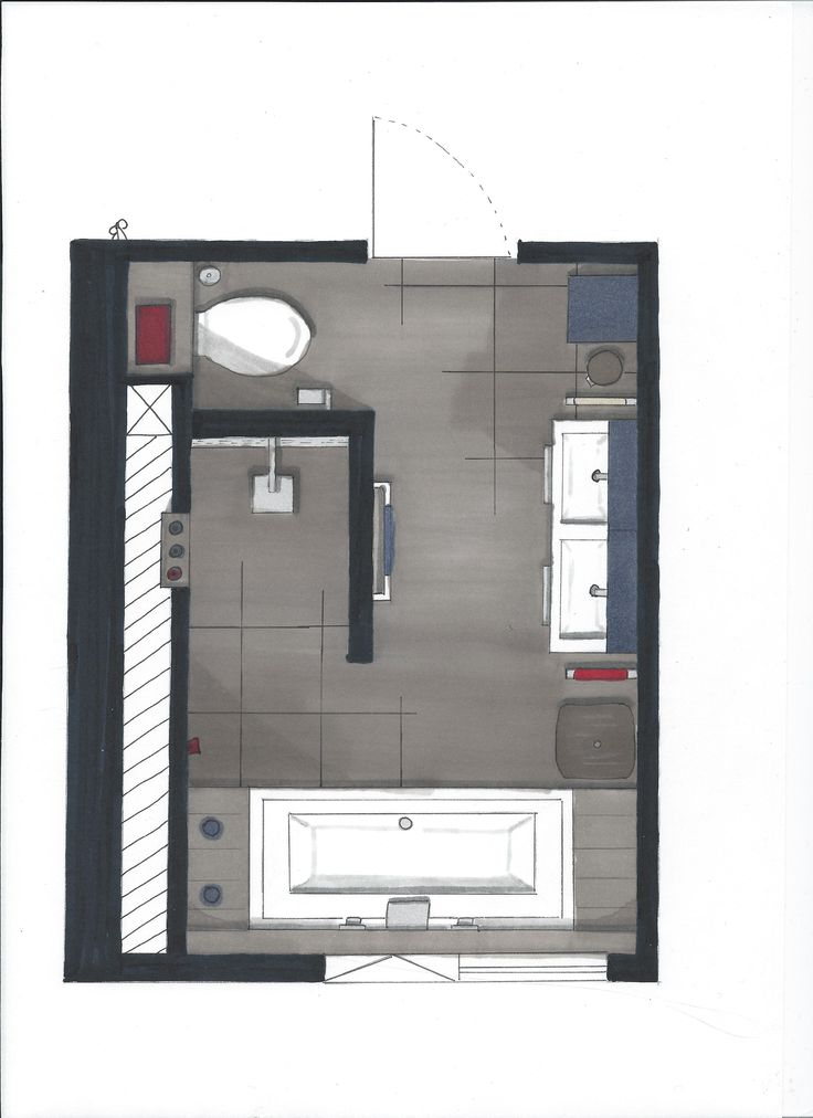 Another Bathroom Floorplan