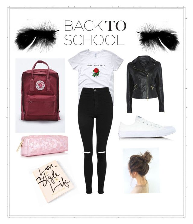 """Untitled #7"" by idaayudevinaputrisuteja ❤ liked on Polyvore featuring Topshop, Converse and Fjällräven"