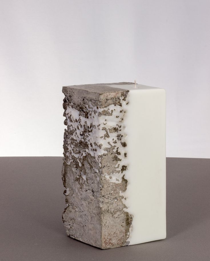 """Soy Candles and Concrete. Diamond-Shaped. This candle with a slightly roughed concrete surface that allows wax to seep into the cracks. Each candle is individually hand-made and using a unique method that is currently """"Patent Pending"""". #scentedcandles #decorativecandles #candlesandholders #handmade #candlestore #luxurycandles #baycandles #soycandles #exclusivegift #patented #decore #candle"""