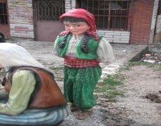 Peasant Girl Statue