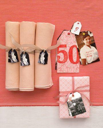 Photo Favors: Napkins Rings, 50Th Anniversaries, Parties Favors, Photo Gifts, Gifts Tags, Parties Tags, Anniversaries Parties, Photo Favors, Parties Decor