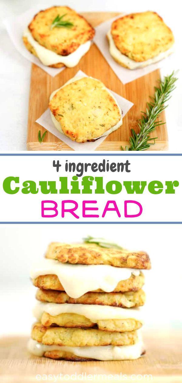 4 Ingredient Cauliflower Bread Recipe Cauliflower Bread