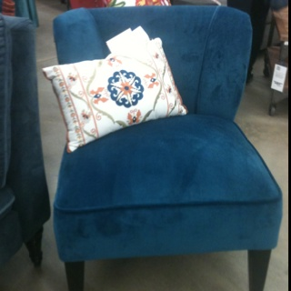 Beautiful blue accent chair world market $200