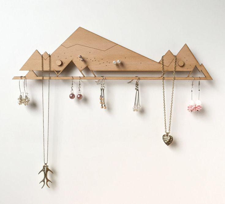 Jewelry Organizer (with standoffs) | Jewelry Storage | Jewelry Display | Jewellery Holder | Earring Holder | Earring rack | Necklace rack by Monstersalat on Etsy https://www.etsy.com/listing/506980492/jewelry-organizer-with-standoffs-jewelry