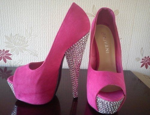 pink heels with glitter