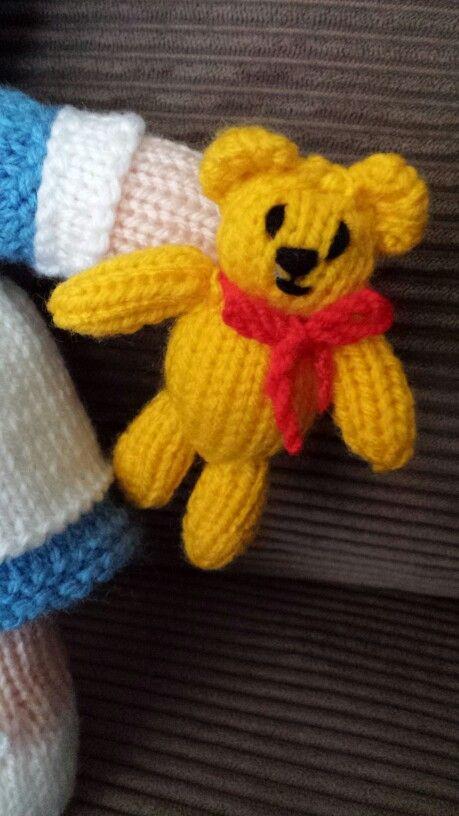 Hand Knitted Teddy Bear - #JeanGreenhowePattern