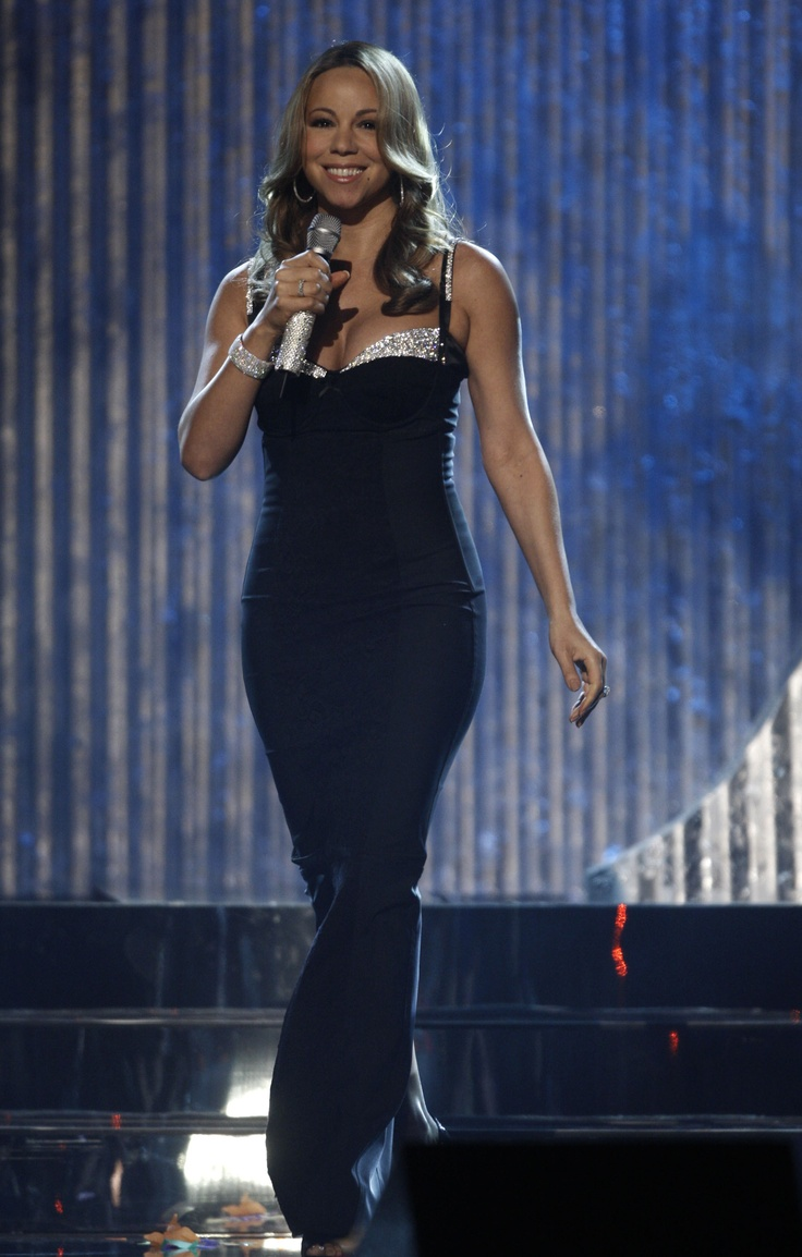 Ma mariah carey weight loss tip mariah - Evening Black Dress Mariah Carey