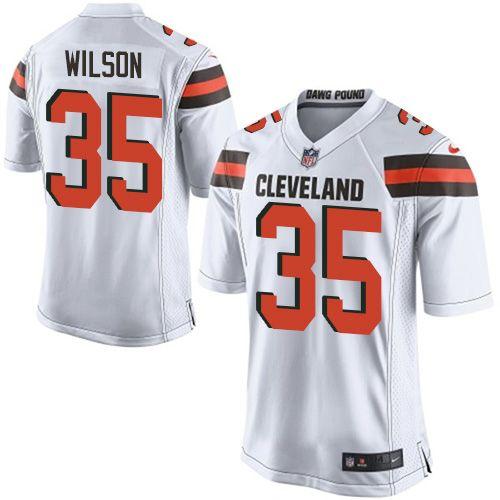 Men's Nike Cleveland Browns #35 Howard Wilson Game White NFL Jersey