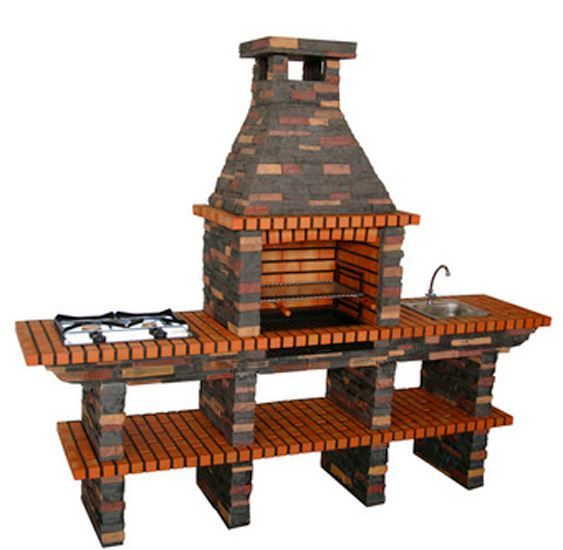 brick bbq plans with chimney bbq with gas stove sink and chimney 209 click to 384