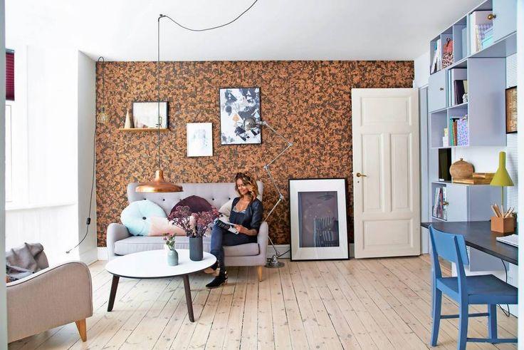 Living room, wallpaer, DIY, rom123.no