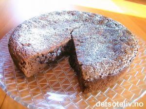 Flytende sjokoladekake | Det søte liv
