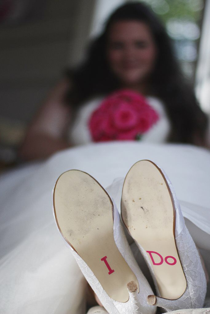 "Our wedding! ""I do"" decals from Etsy, matching the flowers. Photo inspiration."