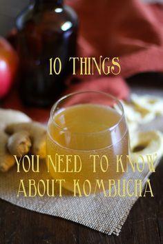10 Things You Need To Know About Kombucha + Apple Ginger Kombucha Recipe | www.theroastedroot.net